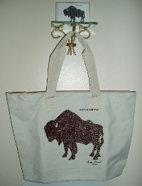 buffalo bag white large